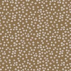 Tela con margaritas marrón